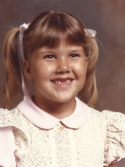My father loved me in pigtails, but apparently I was heading the Little House on the Prairie somewhere in South Florida ….. yikes
