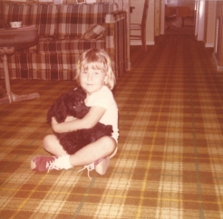 Me and Muffin, our schnoodle but more importantly, mixing plaid was cool back in the late 70's ….. I do still dig some red sneakers.